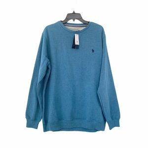 Us Polo Assn Crewneck Blue Sweatshirt